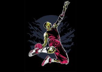 Zombie Slam Dunk t shirt design buy t shirt design
