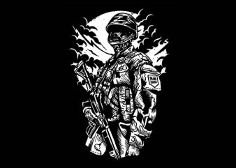 Zombie Soldier t shirt design buy t shirt design
