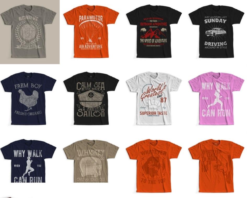 100 Retro Vintage T-Shirt Designs buy t shirt design