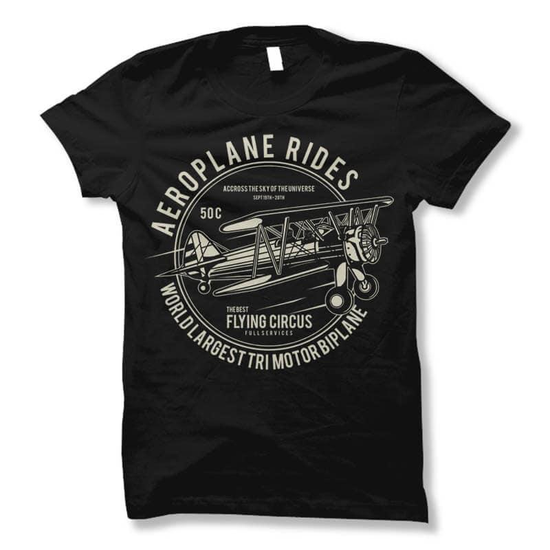 Aeroplane T shirt Design buy t shirt design
