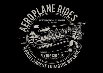 Aeroplane T shirt Design buy t shirt design