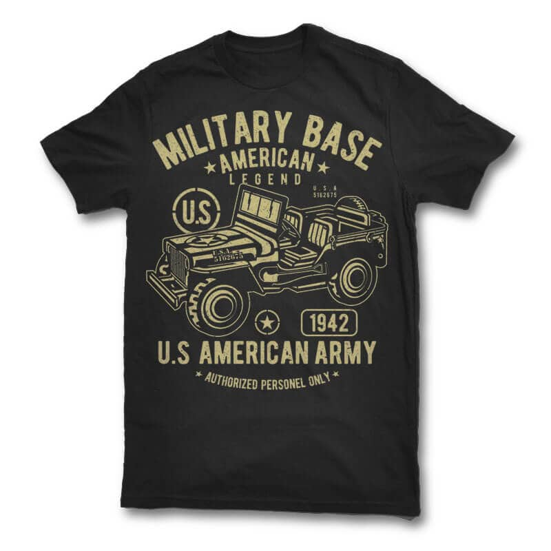 American Army Jeep vector design buy t shirt design