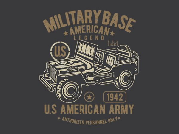 American Army Jeep t shirt design 600x450 - American Army Jeep vector design buy t shirt design