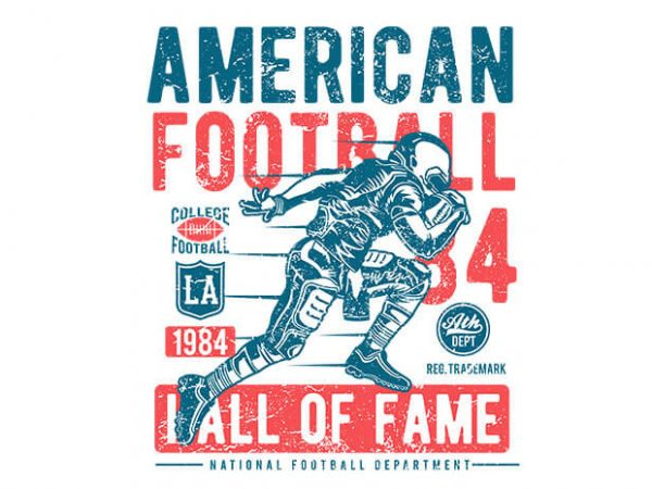 American Football t shirt design 600x450 - American Football vector t shirt design buy t shirt design