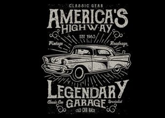 Americas Highway vector t shirt design buy t shirt design