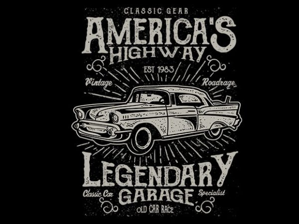 Americas Highway t shirt design 600x450 - Americas Highway vector t shirt design buy t shirt design