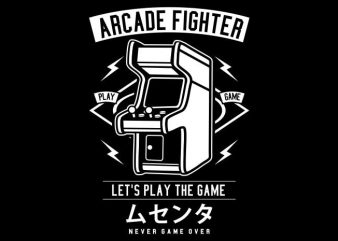 Arcade Fighter t shirt vector