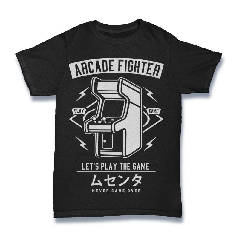 Arcade Fighter buy t shirt design
