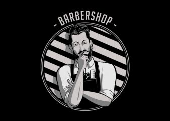 Barbershop T-Shirt Design buy t shirt design