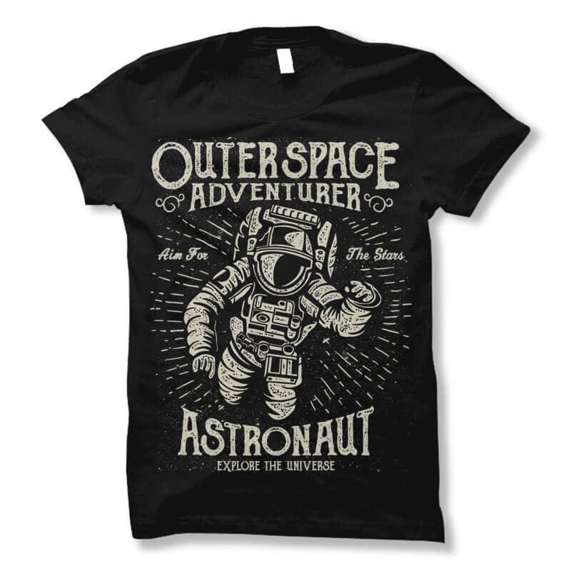 Astronaut vector t shirt design buy t shirt design