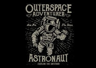 Astronaut vector t shirt design
