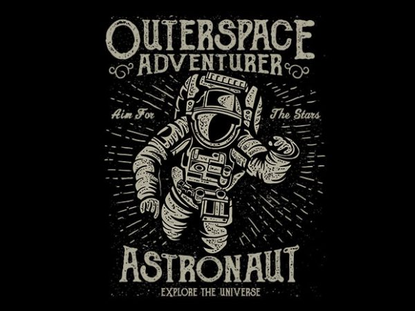 Astronaut t shirt design 600x450 - Astronaut vector t shirt design buy t shirt design