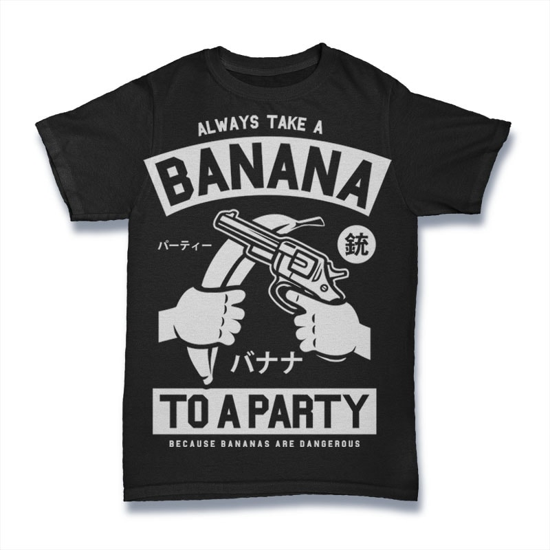 Banana Party buy t shirt design