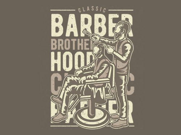 Barber Brotherhood vector design