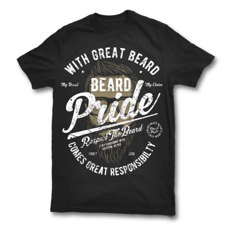 Beard Pride vector t shirt design buy t shirt design
