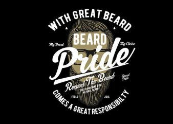 Beard Pride vector t shirt design t shirt vector