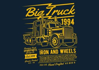 Big Truck 2 vector t shirt design buy t shirt design
