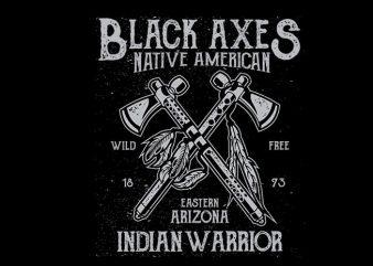 Black Axes vector t shirt design buy t shirt design