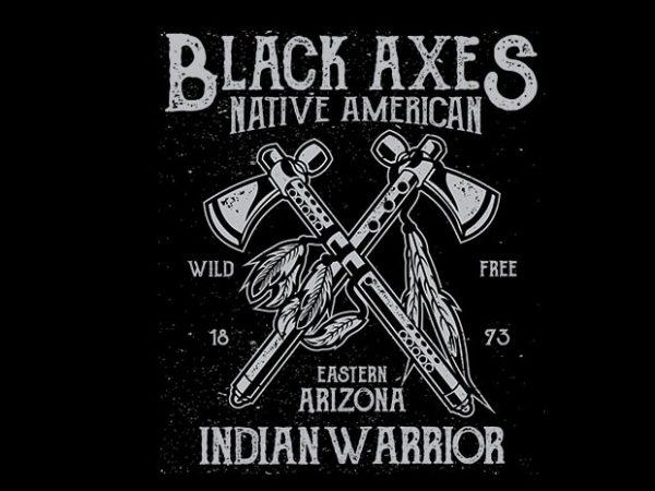 Black Axes t shirt design 600x450 - Black Axes vector t shirt design buy t shirt design
