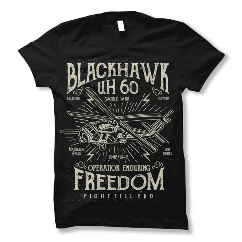 Blackhawk vector t shirt design buy t shirt design