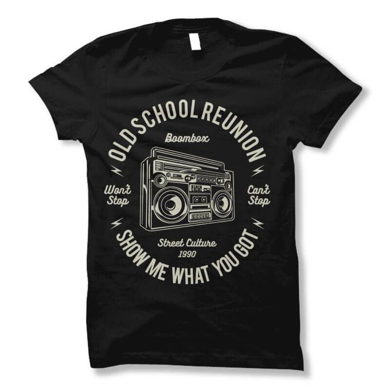 Boombox vector t shirt design buy t shirt design
