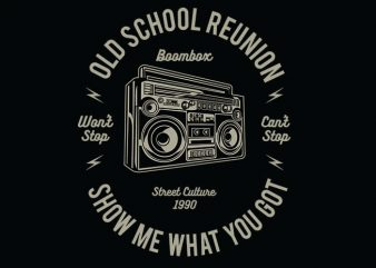 Boombox vector t shirt design