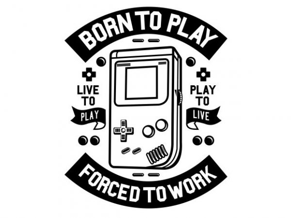 Born To Play t shirt template