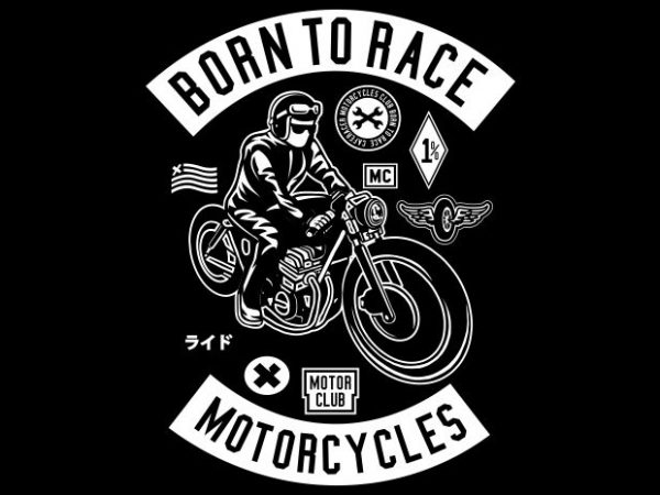 Born To Race t shirt template