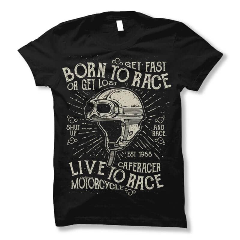 Born To Race vector t shirt design buy t shirt design