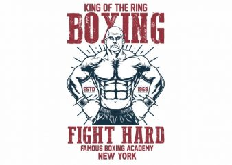 Boxing t shirt design