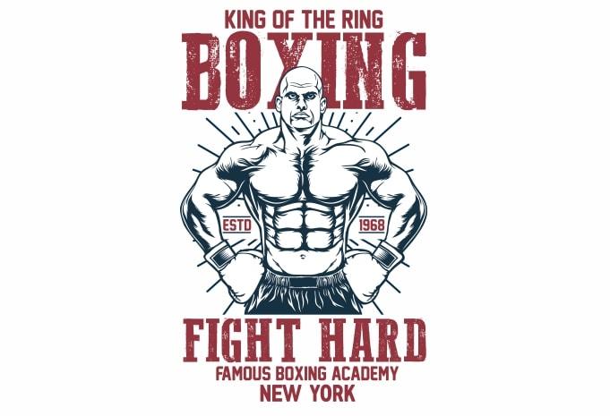 Boxing - Boxing t shirt design buy t shirt design