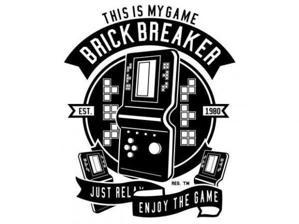 Brick Breaker t shirt template