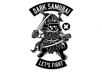 Dark Samurai buy t shirt design