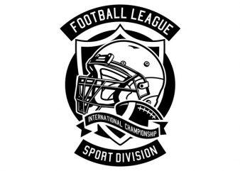 Football League t shirt vector