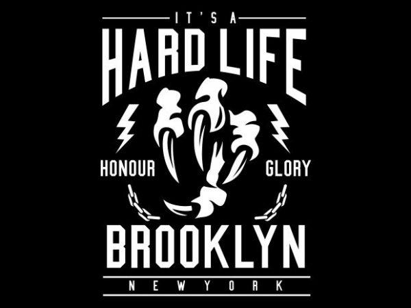 Hard Life graphic t shirt