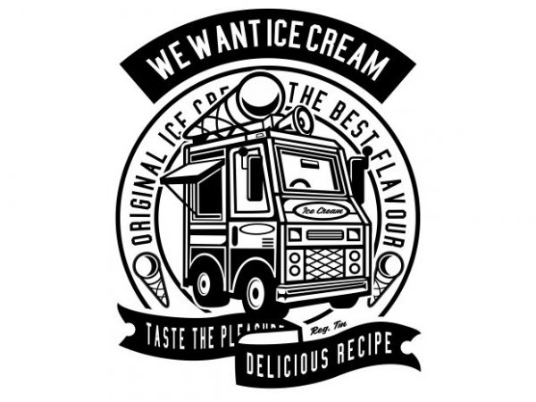 Ice Cream Truck buy t shirt design