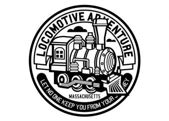 Locomotive Adventure buy t shirt design