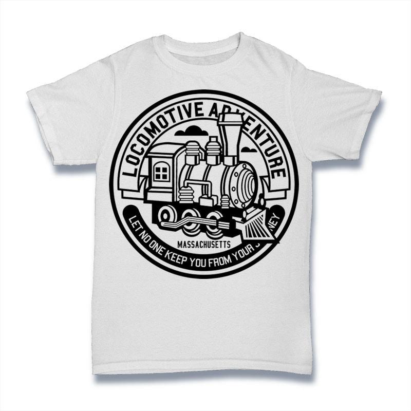 Locomotive Adventure buy t shirt design