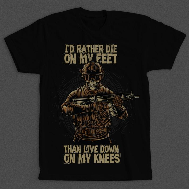 Military Skull buy t shirt design