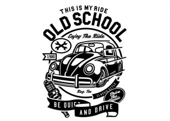 Old School Ride buy t shirt design