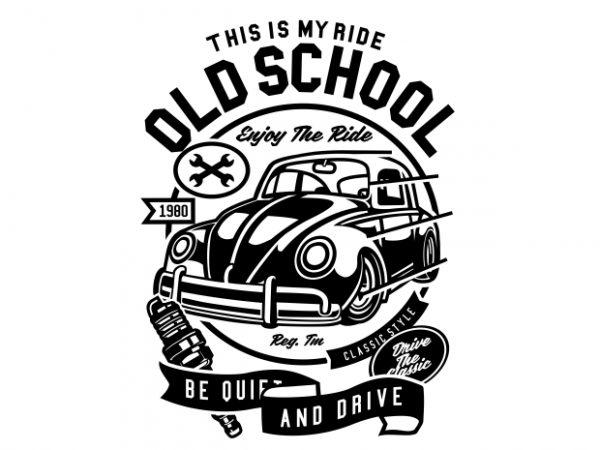 Old School Ride t shirt design online