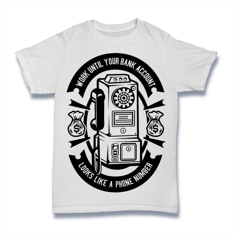 Phone Number buy t shirt design