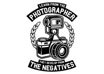 Photographer t shirt illustration