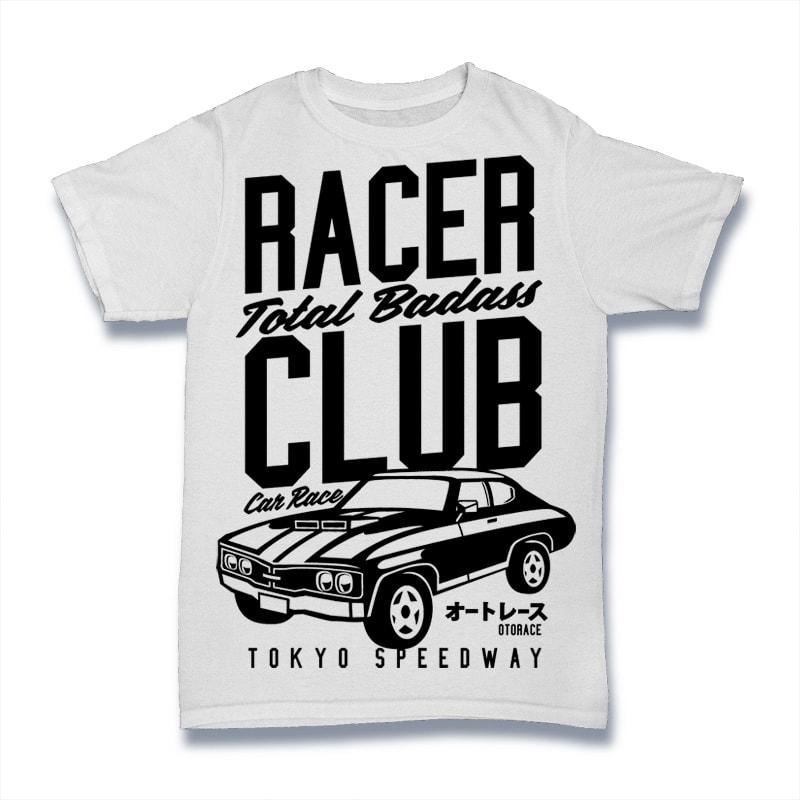 Racer Club buy t shirt design