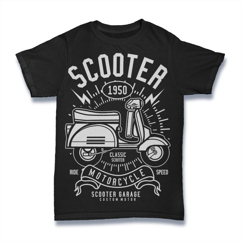 Scooter buy t shirt design