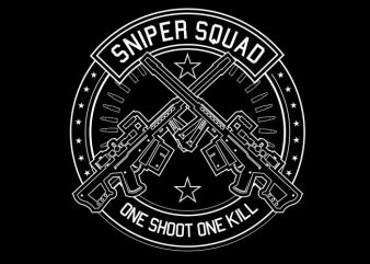 Sniper Squad buy t shirt design