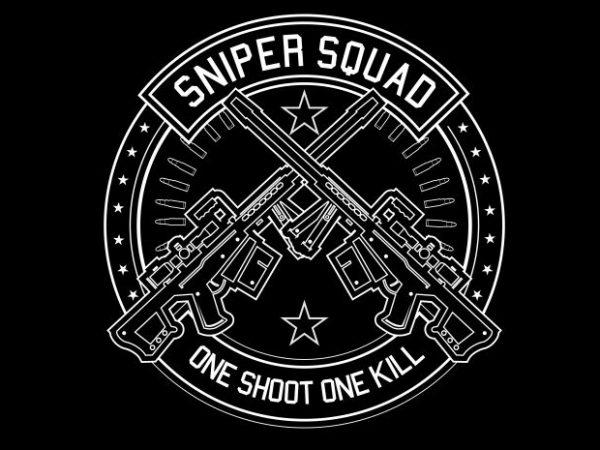 Sniper Squad buy t shirt design