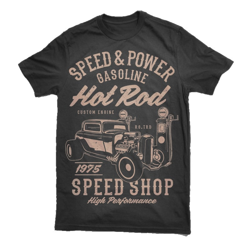 Speed & Power Hotrod buy t shirt design