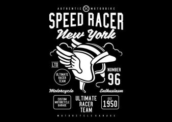 Speed Racer t shirt template vector