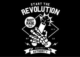 Start The Revolution buy t shirt design